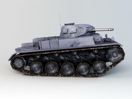 WWII German Tank 3d preview