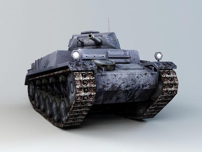 WWII German Tank 3d rendering