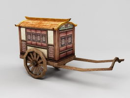Ancient China Carriage 3d preview
