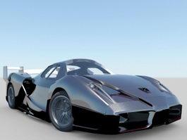 Black Supercar 3d preview