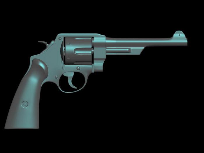 Police Revolver 3d rendering