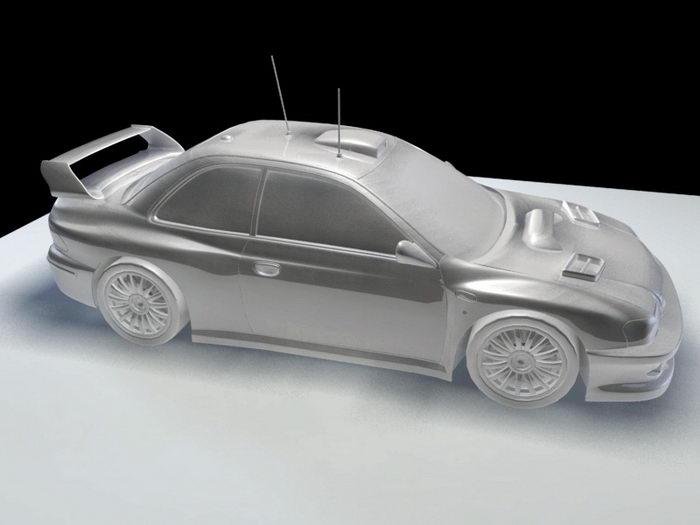 Road Race Car 3d rendering