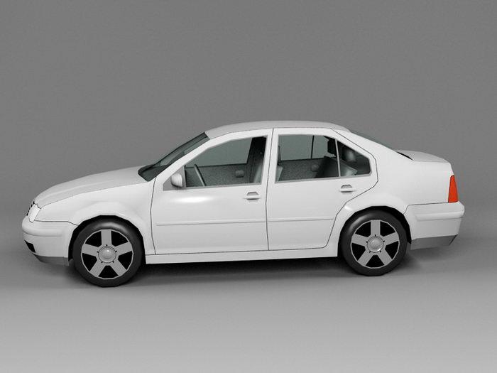 Volkswagen Bora 3d rendering