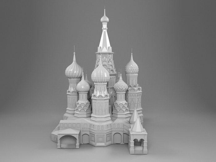 Cathedral Architecture 3d rendering