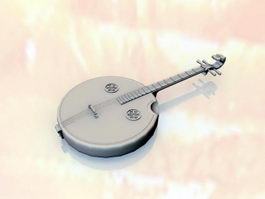Ruan Traditional Chinese Instrument 3d preview