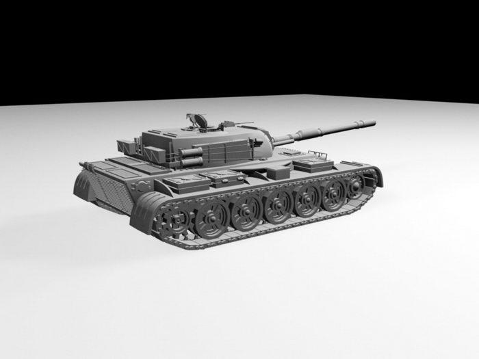 Heavy Tank 3d rendering