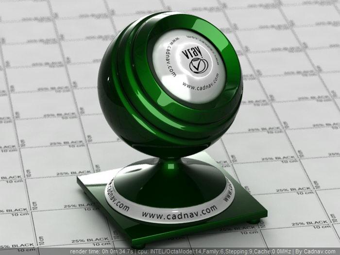 Dark Green Car Paint material rendering