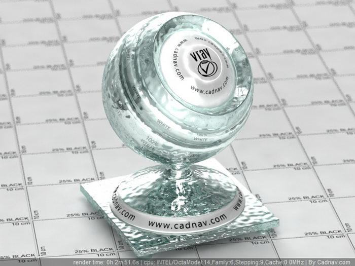 Figured Glass material rendering