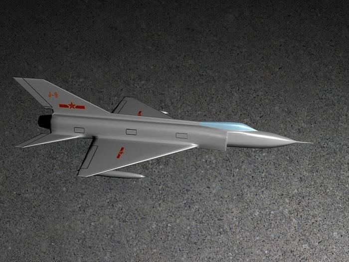 Chengdu J-9 Chinese Interceptor Aircraft 3d rendering