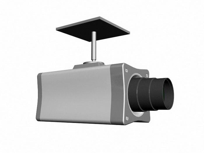 Ceiling Surveillance Camera 3d rendering