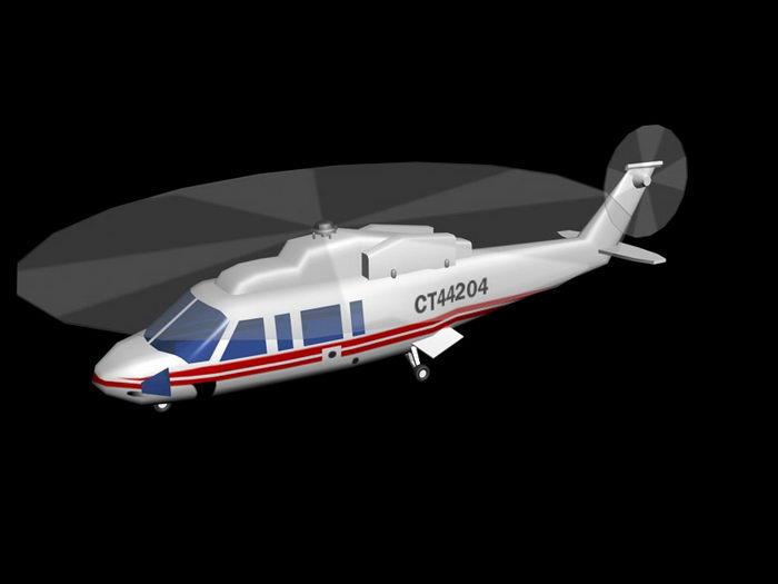 Sikorsky S-76 helicopter 3d rendering