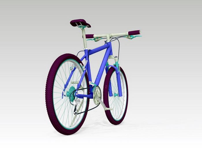 Blue Mountain Bike 3d rendering
