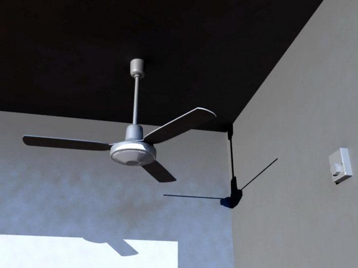 Ceiling Fan 3d rendering