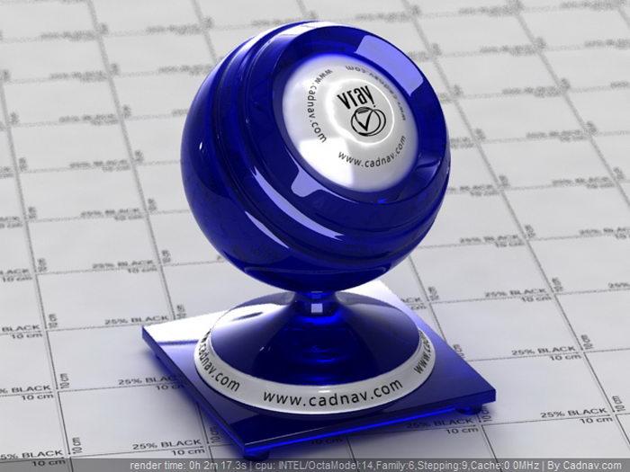 Sri Lanka Blue Sapphire material rendering