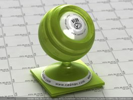 Lime Green Plastic vray material