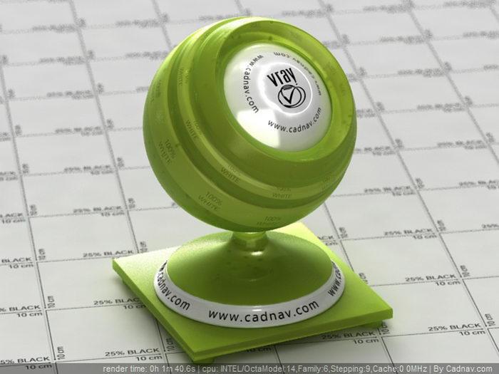 Lime Green Plastic material rendering