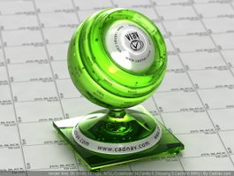 Clear Green Glass vray material
