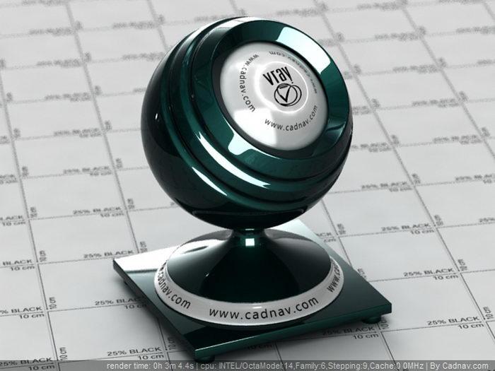 Dark Emerald Green Car Paint material rendering