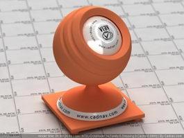 Gloss Orange Plastic vray material