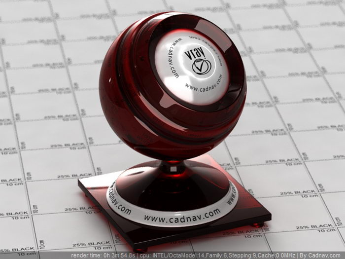 Deep Red Color Garnet material rendering