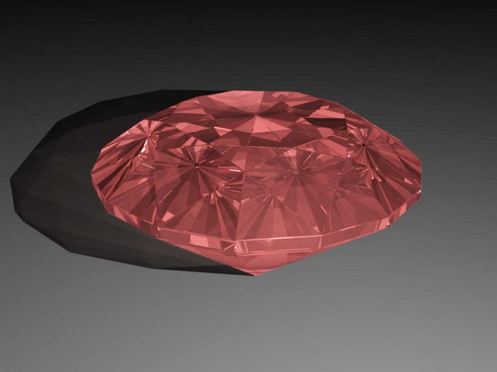 Red Diamond 3d rendering