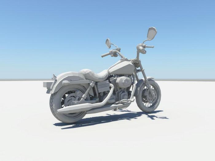 Motorcycle 3d rendering