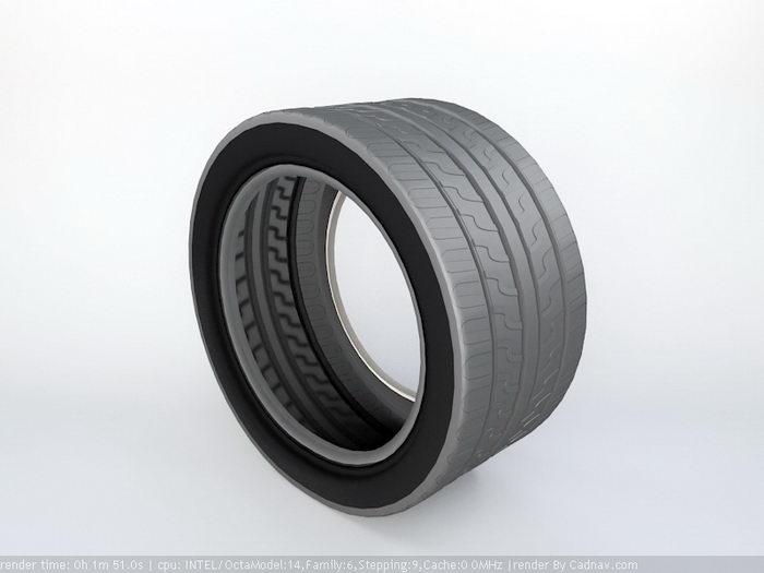 Automotive Road Tire 3d rendering
