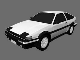 Toyota AE86 Sprinter Trueno 3d preview