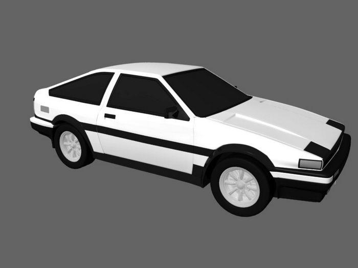 Toyota AE86 Sprinter Trueno 3d rendering
