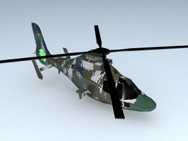 WZ-9 Attack Helicopter 3d preview