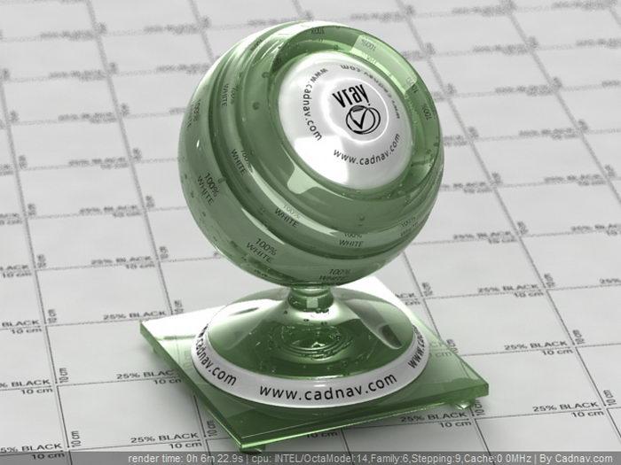 Green Jade material rendering