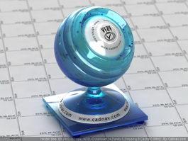 Vintage Cobalt Blue Glass vray material