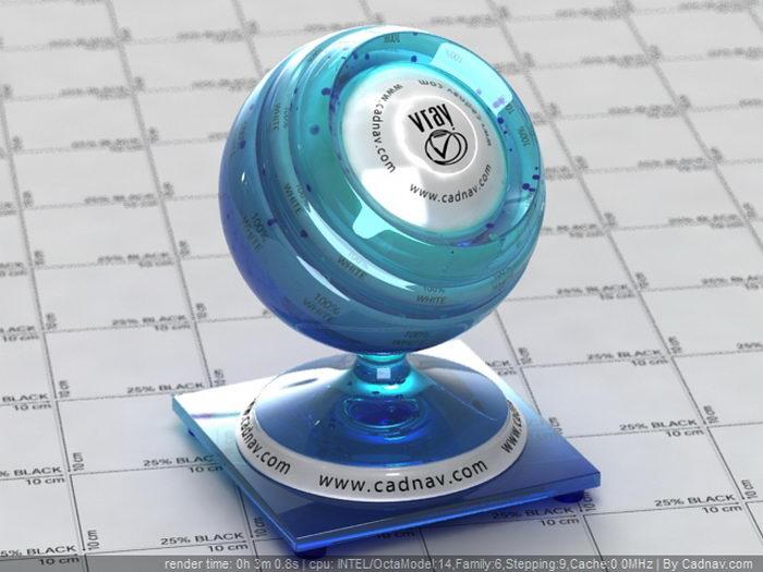 Vintage Cobalt Blue Glass material rendering