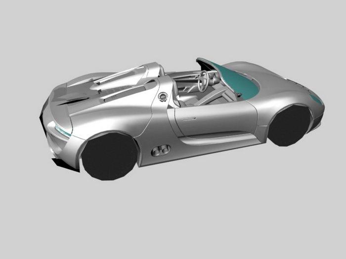 Porsche 918 Spyder 3d rendering
