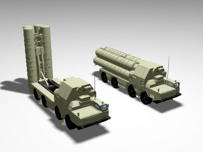 SA-10 Grumble Missile System 3d rendering
