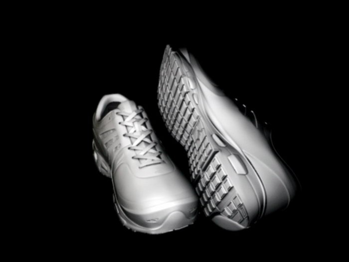 White Gym Shoes 3d rendering