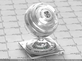 Zinc Borate Glass vray material