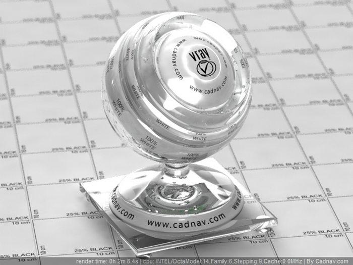 Zinc Borate Glass material rendering