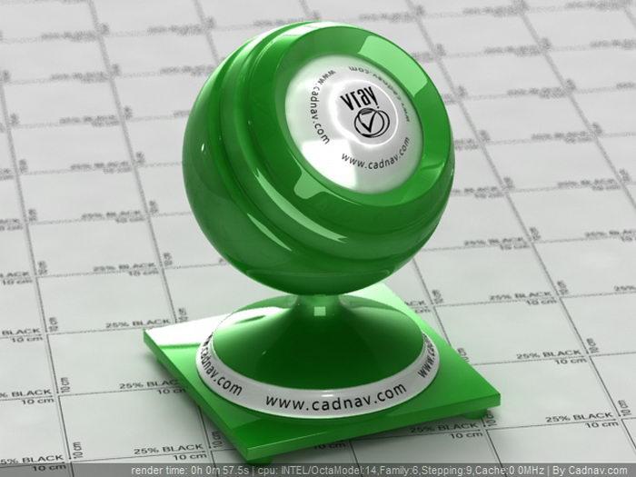 Translucent Material - Green material rendering