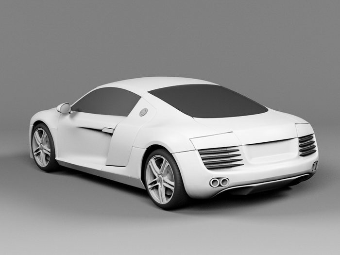 Audi R8 FSI Coupe 3d rendering