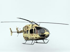 Eurocopter UH72 Military Helicopter 3D Model