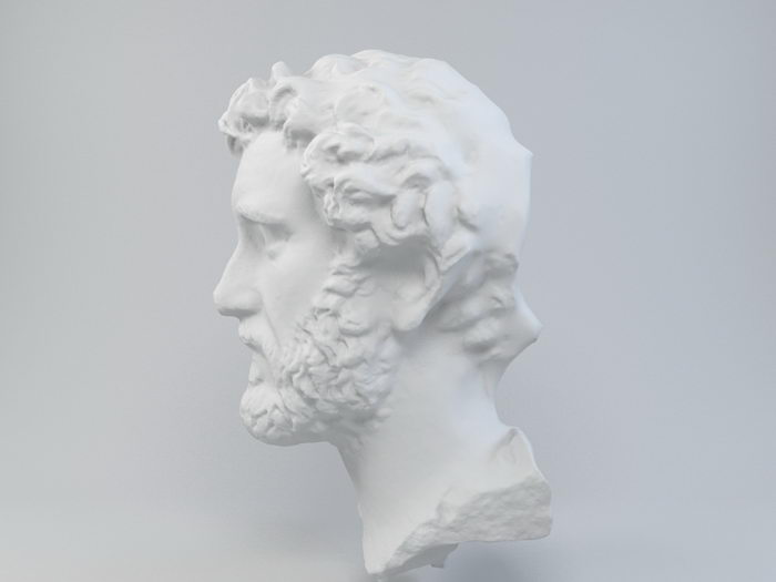 Head of Antoninus Pius 3d rendering