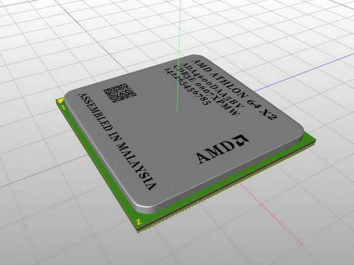 AMD Athlon Processor 3d rendering
