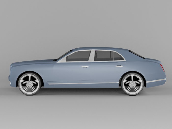2011 Bentley Mulsanne 3d rendering