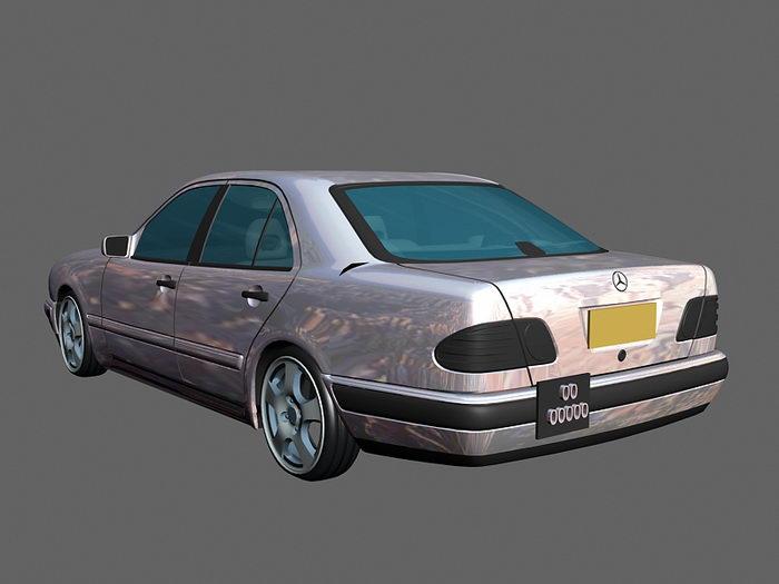 Benz Car 3d rendering