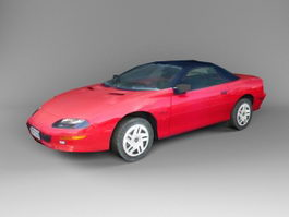 Red Hardtop Coupe 3d preview