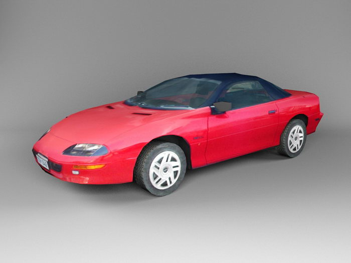 Red Hardtop Coupe 3d rendering