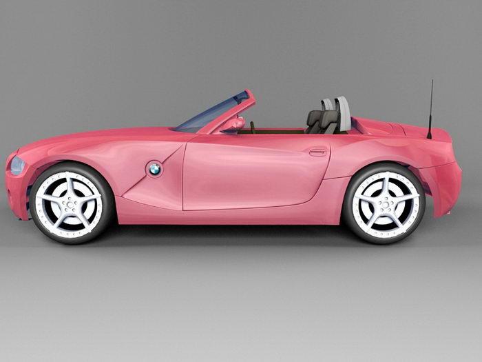 BMW Roadster Convertible 3d rendering