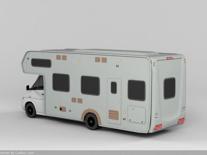 Coachbuilt Campervan 3d rendering