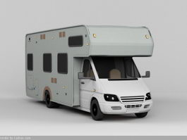Coachbuilt Campervan 3d preview
